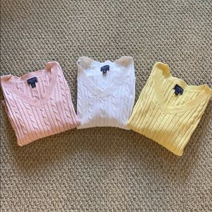 Bundle of Chaps Classics Cable Knit Sweaters